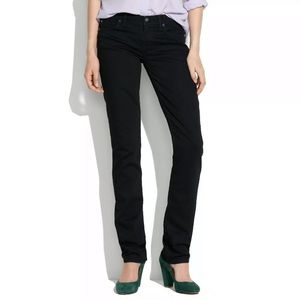 Madewell Rail Straight Black Jeans